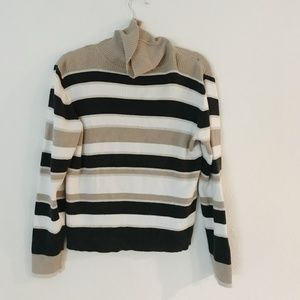 Stripped turtle neck sweater